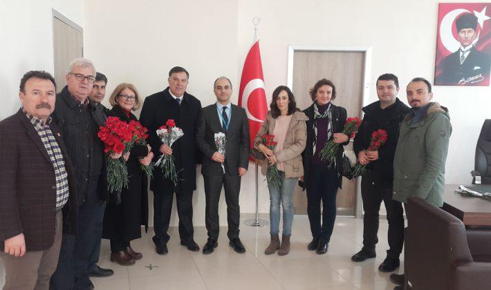 CHP Belediye Başkan adayı Şenol Yalı'dan 14 Mart Tıp Bayramı ziyaretleri