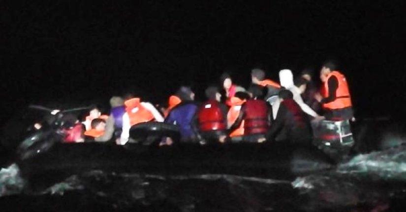 Enez'de 35 göçmen yakalandı.