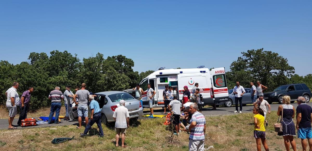 Enez de trafik kazasi: 1 ölü, 5 yaralı..
