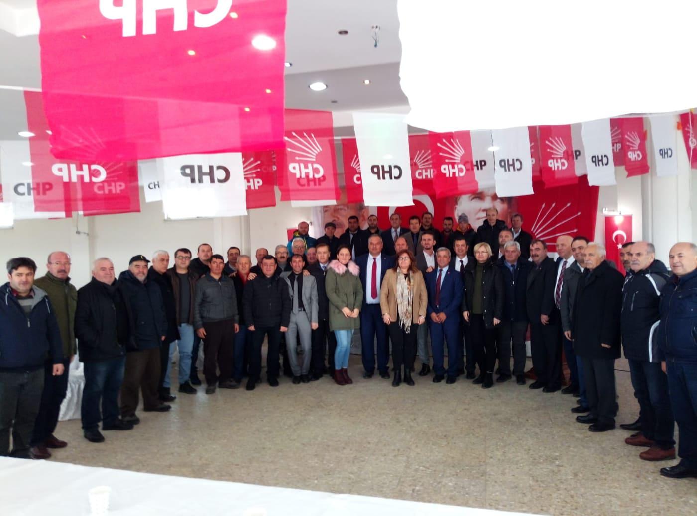 CHP Enez İlçe Kongresi Yapıldı Vedat Avcu Tekrar Başkan seçildi