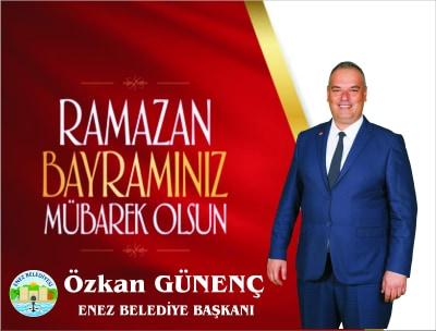Enez Belediye Başkanı Özkan Gunenç, halkın bayramını belediye hopõrlerinden kutladı