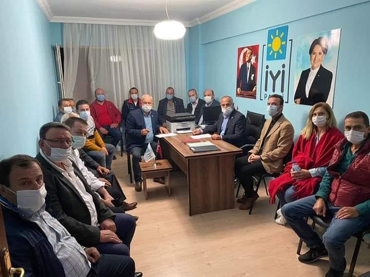 İYİ Parti İl Baskanlığı İlçe Başkanlar Toplantısını Enez'de Yaptı
