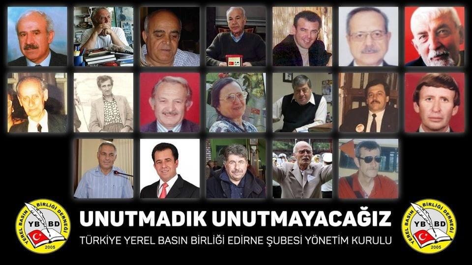 Yerel Basın Birliği Edirne Şubesi Edirne ve ilçelerde hayatlarını kaybeden gazeteciler için bir kitap bastıracak